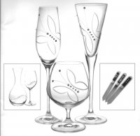 Wedding and present glasses